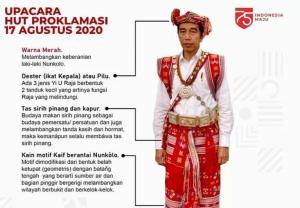 Ini Makna Tenun Kaif NTT yang Dikenakan Jokowi saat Upacara