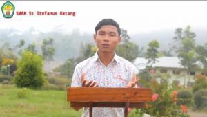 Siswa SMAK St Stefanus Ketang Juara 5 Lomba Pidato Pancasila BNPT