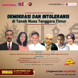 Inisiatif Demokrasi Gelar Webinar Demokrasi dan Intoleransi di Tanah NTT